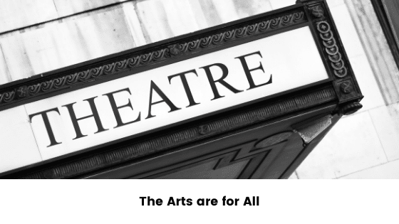 a black and white image of sign above an external door, saying theatre